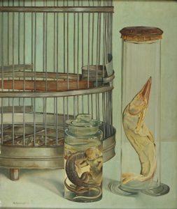 stilleven m. vogelkooi 1932